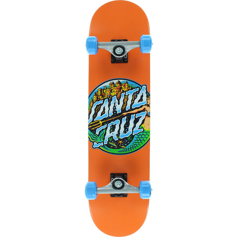 "Santa Cruz Mermaid DOT Complete Skateboard - 7.8"" Orange"