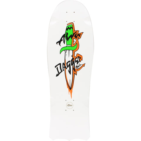 "Alva 1985 Dagger Tail Skateboard Deck 10"" - White"