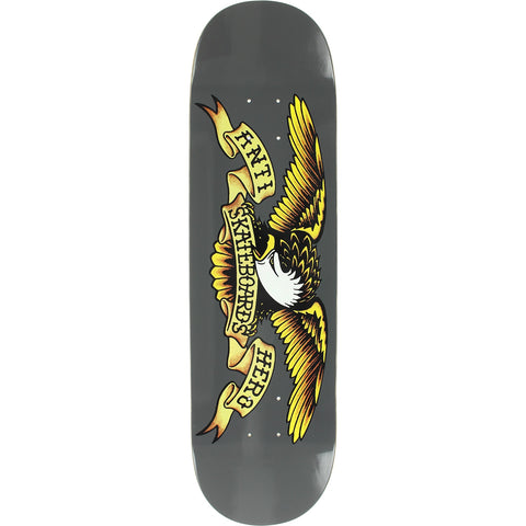Anti Hero Classic Eagle Larger 8.25 Deck - Grey