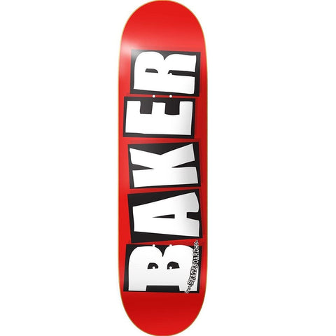 "Baker Brand Logo Mini Skateboard Deck - 7.3"" Red/White"