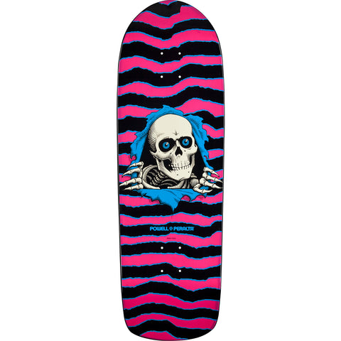 "Powell Peralta Old School Ripper Skateboard Deck 10"" - Pink/Blue"