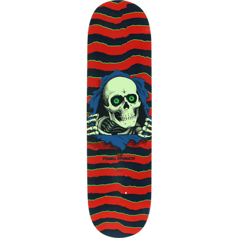 "Powell Peralta Ripper Skateboard Deck 8.25"" - Red/Navy"