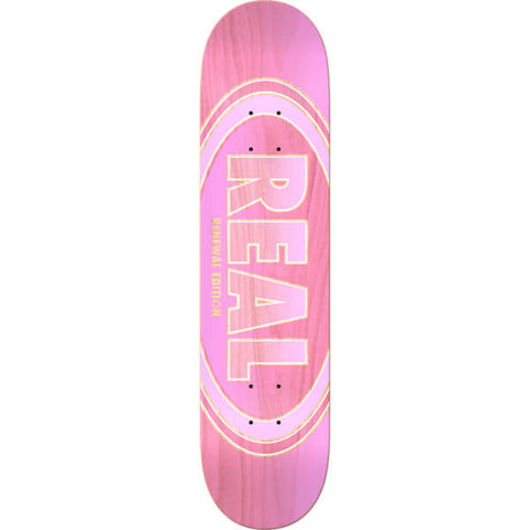 "Real Renewal Oval Duofade Skateboard Deck - 7.3"" Pink"