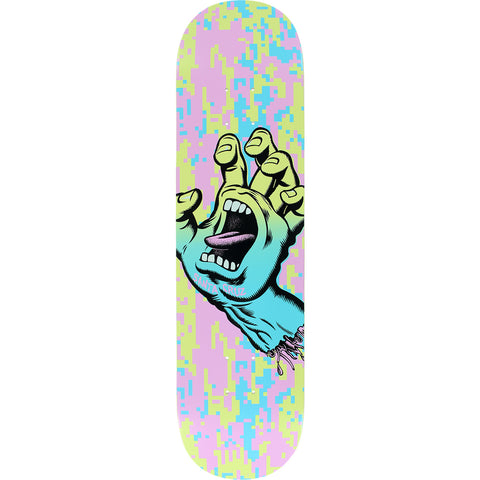"Santa Cruz Screaming Hand Camo Wide Tip Skateboard Deck - 8.0"" Pastel"