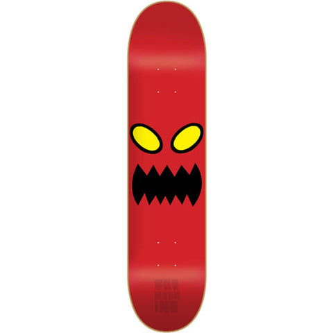"Toy Machine Monster Face Skateboard Deck - 8.0"" Red"