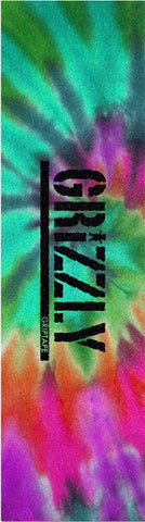 "Grizzly Stamp Reverse Tie Dye Single Sheet Griptape - 9""x33"""
