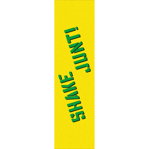 "Shake Junt Colored Single Sheet Griptape 9""x33"" - Yellow/Green"