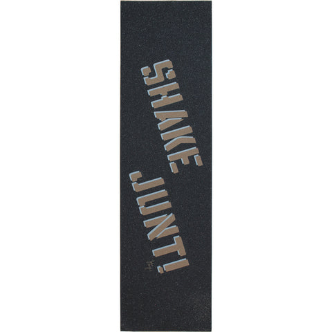 "Shake Junt Hayes Single Sheet Griptape 9""x33"" - Black/Gold/White"
