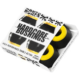 Bones Hardcore Hard Medium Bushings - Black/Yellow (Set of 4)