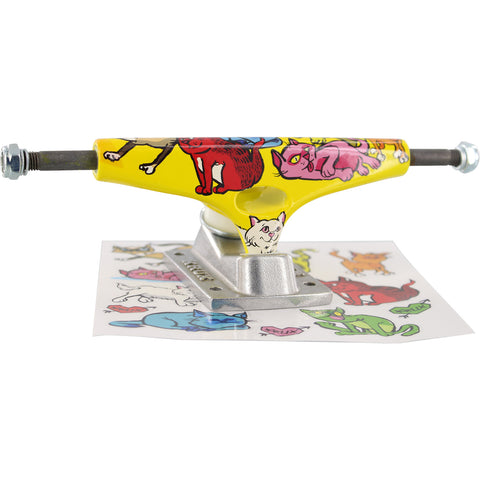 Krux Trucks Standard 8.0 Cat Party - Yellow/Silver (Pair)