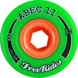 Abec11 Wheels Freeride Centerset 72mm 81a (set) green - Skates USA