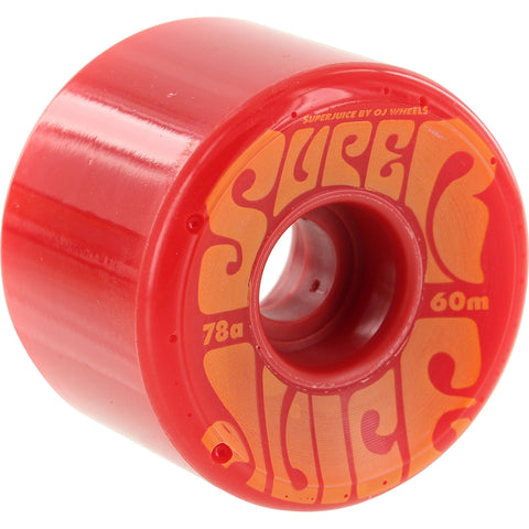 OJ Wheels Super Juice 60mm 78a - Red/Orange (Set of 4)