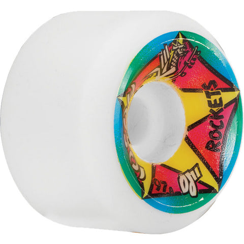 OJ Wheels Hosoi Rocket Re-Issue 61mm 97a - White (Set of 4)