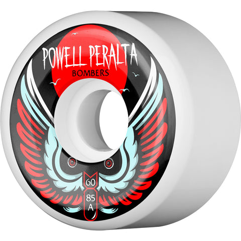 Powell Peralta Wheels Bomber III Natural 60mm 85a - White (Set of 4)