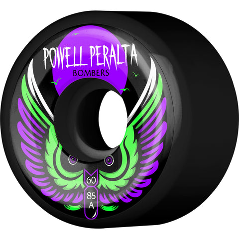 Powell Peralta Wheels Bomber III Natural 60mm 85a - Black (Set of 4)