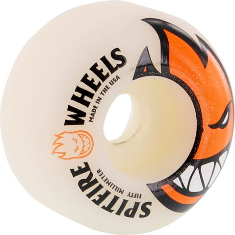 Spitfire Wheels Bighead 50mm 99a - White/Orange (Set of 4)