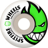 Spitfire Wheels Bighead 53mm - White/Green (Set)