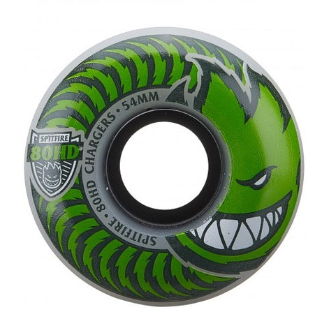 Spitfire Wheels 80HD Charger Classic 54mm - Clear/Green (Set of 4)