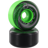 Spitfire Wheels F4 Radial Slim Venomous Mash 52mm 101a - Green/Black (Set of 4)