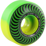 Spitfire Wheels F4 Classic Swirl 52mm 99a - Green/Yellow (Set of 4)