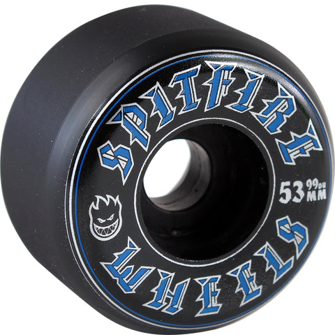 Spitfire Wheels Old English 53mm 99a - Black (Set of 4)