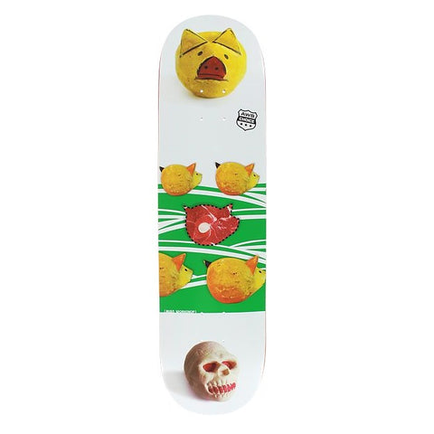 "Alien Workshop Piggy SM Skateboard Deck - 8.12"" White/Green"