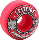 Spitfire Wheels F4 Classic 54mm 99a - Pink (Set of 4)