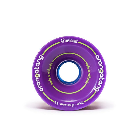 Orangatang 4President 70mm 83a Longboard Wheels - Purple (Set of 4)