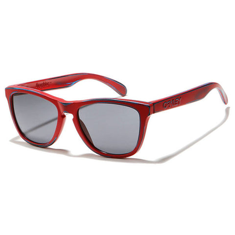 Oakley Sunglasses Frogskins - Matte Red W/ Grey