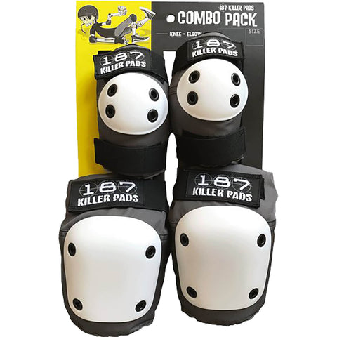 187 Combo Pack Knee/Elbow Pad Set - Grey