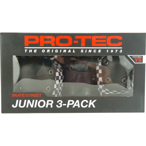 ProTec Street Gear Junior 3 Pack Combo YS - Check Black/White