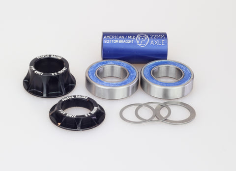 Profile Racing BMX Mid Bottom Bracket 22mm Kit - Black