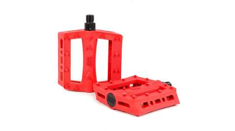 Rant BMX Shred Pedals - Red