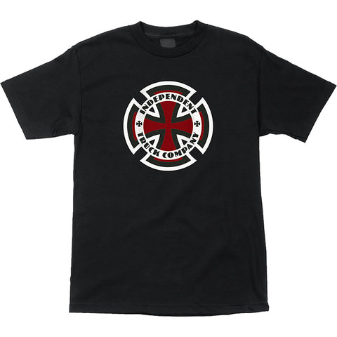 Independent Ringed Cross T-Shirt Medium - Black