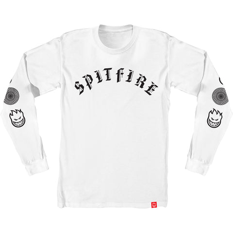 Spitfire Old E Combo Long Sleeve T-Shirt - White