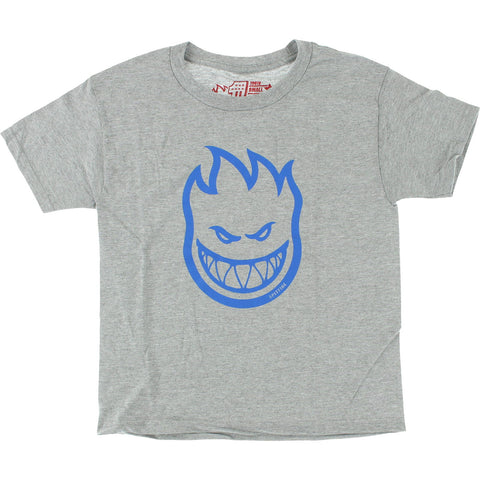 Spitfire Bighead Heather Youth T-Shirt - Grey/Blue