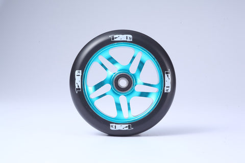 Envy 5 Spoke Scooter Wheel 120mm - Teal (Pair)