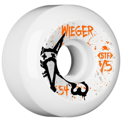 Bones STF Wieger Vato OP 54mm Wheels - White (Set of 4)