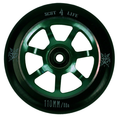 841 Delta Wheels 110mm - green (pair) - Skates USA