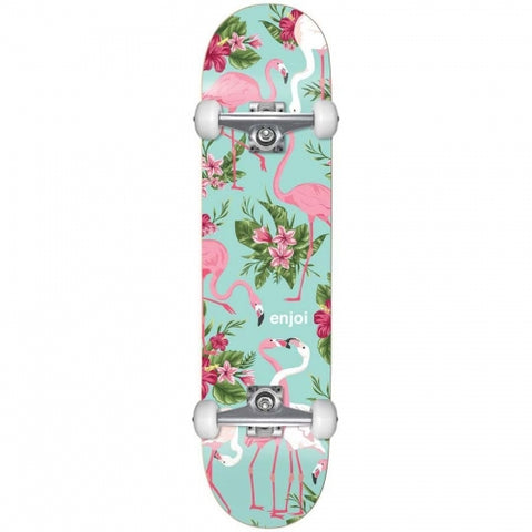 "Enjoi Flamingo Resin Complete Skateboard 7.75"" - Pastel Green"