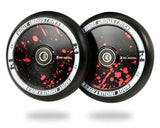 Root Industries 110mm AIR Wheels - Black/Red Splatter (Pair)