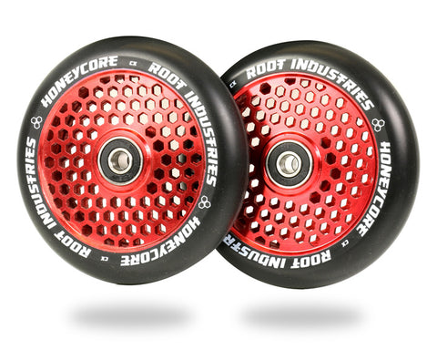 Root Industries 110mm HoneyCore Wheels - Black/Red (Pair)