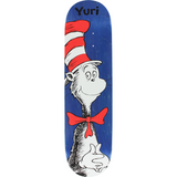 "Almost Yuri Cat In The Hat R7 Skateboard Deck 8.0"" - Blue"