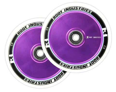 Root Industries 110mm AIR Wheels - White/Purple (Pair)