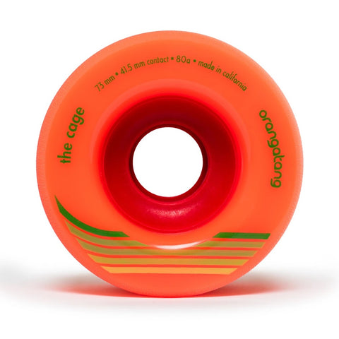 Orangatang The Cage 73mm 80a Longboard Wheels - Orange (Set of 4)