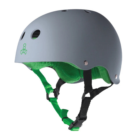 Triple 8 Sweatsaver Helmet - Carbon Rubber/Green