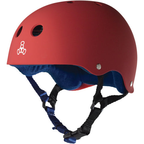 Triple 8 Sweatsaver Helmet - Red Rubber/Blue