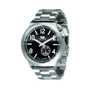 Vestal Watch- Canteen Metal Mens- silver/black/brushed