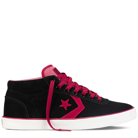 Converse Shoes Wells Mid- black/red/white - Skates USA