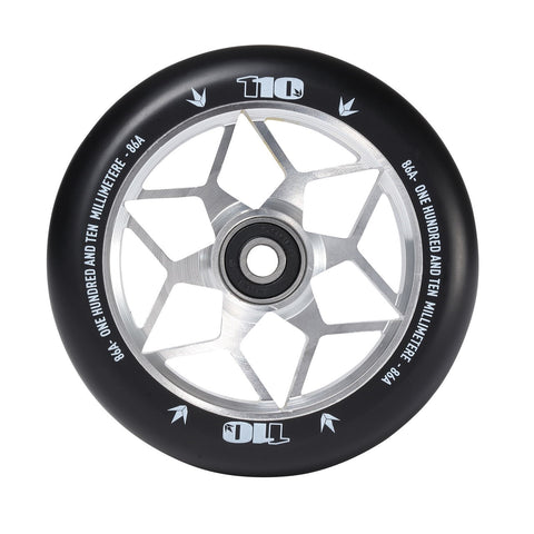 Envy Diamond Scooter Wheel 110mm - Silver (Pair)